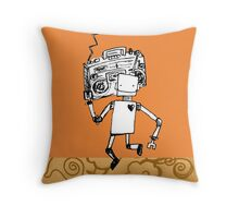 Robots love to boogie Throw Pillow
