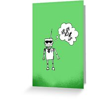 Robots love bling Greeting Card