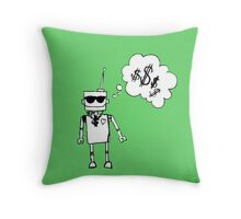 Robots love bling Throw Pillow