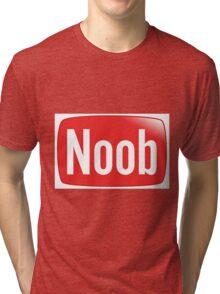 Funny NOOB Design Tri-blend T-Shirt