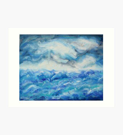 ocean scape Art Print