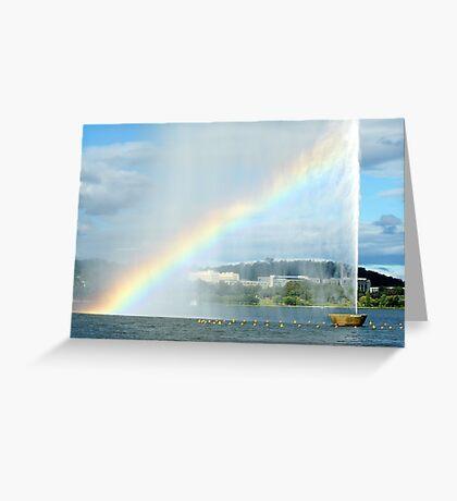 Captain Cook Fountain Rainbow Greeting Card