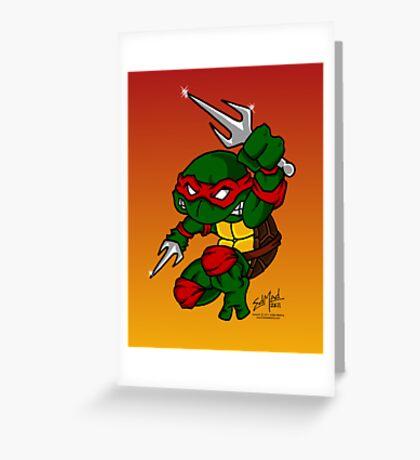 Raphael Teenage Mutant Ninja Turtle Greeting Card
