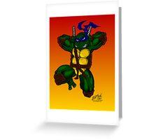 Leonardo Teenage Mutant Ninja Turtles Greeting Card