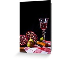 ~ still life with pomegranate ~ Greeting Card