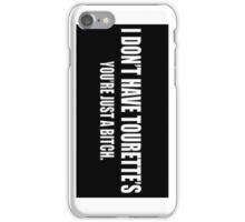 Tourette's - iCase iPhone Case/Skin