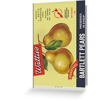 Wattie's Pears  Greeting Card