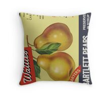 Wattie's Pears  Throw Pillow