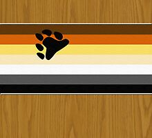 Bear Flag Wrapped Over Wood by x-pressions