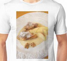 Maple Nut and Apple Strudel With Cinnamon Cream Unisex T-Shirt