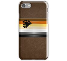 Bear Flag Wrapped Over Brown Leather iPhone Case/Skin