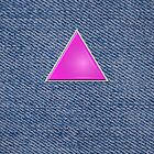 Pink Triangle on Denim by x-pressions