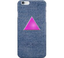 Pink Triangle on Denim iPhone Case/Skin