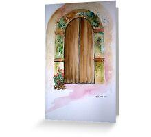 Ancient Door of Greece Greeting Card