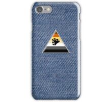 Bear Triangle on Denim iPhone Case/Skin