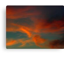Fiery Clouds Canvas Print