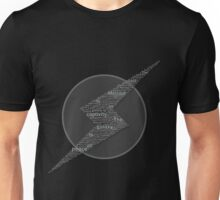 The Galaxy is at Peace (Black and White) Unisex T-Shirt