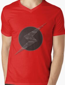 The Galaxy is at Peace (Black and White) Mens V-Neck T-Shirt