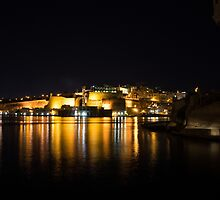 Reflecting on Malta - Valletta Night Magic by Georgia Mizuleva
