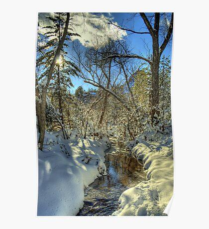 """ Snow, Sun, and Shadows"" Poster"