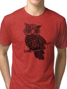 Cute Owl On Tree Tri-blend T-Shirt