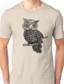 Cute Owl On Tree Unisex T-Shirt