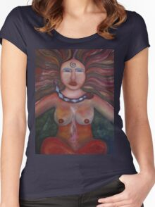 Shaman Woman Women's Fitted Scoop T-Shirt