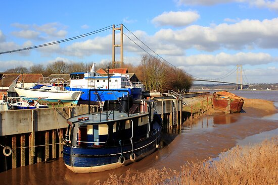 Humber Bridge Boatyard by John Dunbar