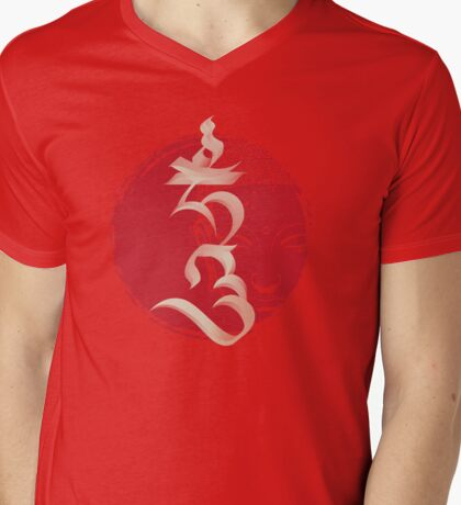 """The Seed Syllable """"Hum"""" Mens V-Neck T-Shirt"""