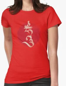 """The Seed Syllable """"Hum"""" Womens Fitted T-Shirt"""