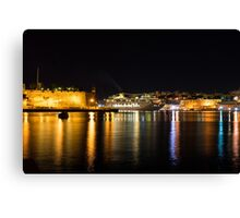 Reflecting on Malta - Cruising Out of Valletta's Grand Harbour Canvas Print