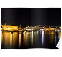 Reflecting on Malta - Cruising Out of Valletta's Grand Harbour Poster