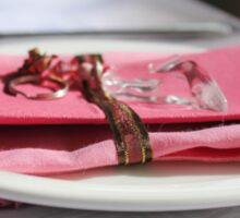 Pink motif table-setting for a wedding...  Sticker