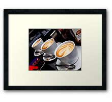 One more cup of coffee Framed Print