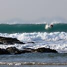 Surfing at Porthtowan by Brian Roscorla