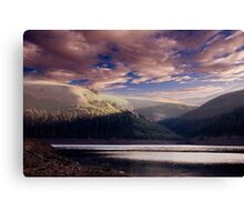 Sunrise over Howden Clough Canvas Print