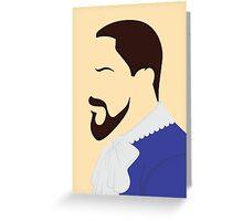 Django Side Profile Greeting Card