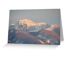 Sunset - Mission Mountains 1 Greeting Card