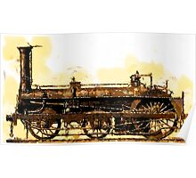 A Crampton Steam Locomotive 1846 Poster