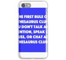Thesaurus Club. iPhone Case/Skin