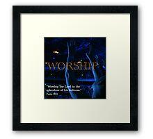 Inspiration - Worship Framed Print