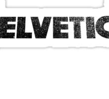Helvetica Rocks - Black Sticker