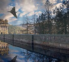 Vulcan over Howden Dam by Martin Jones
