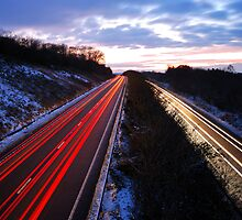 Winter Light Trails by jonshort58