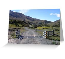 Cattle Stop Greeting Card