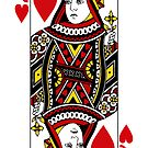 Queen Of Hearts Playing Card by CaseBase