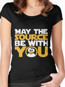 May The Source Be With You - Tux Edition Women's Fitted Scoop T-Shirt