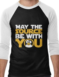 May The Source Be With You - Tux Edition Men's Baseball ¾ T-Shirt