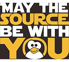 May The Source Be With You - Tux Edition Photographic Print