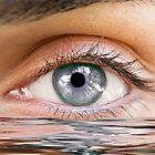 Human eye reflected by guido nardacci